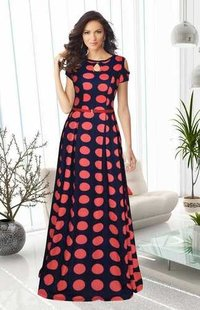 Classical designer printed gown