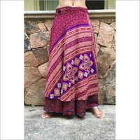 Silk wrap round skirt