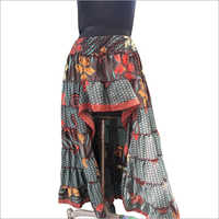 Ladies Designer Print Long Skirt