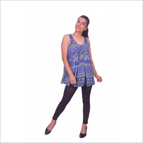 Ladies Printed Sleeveless Top