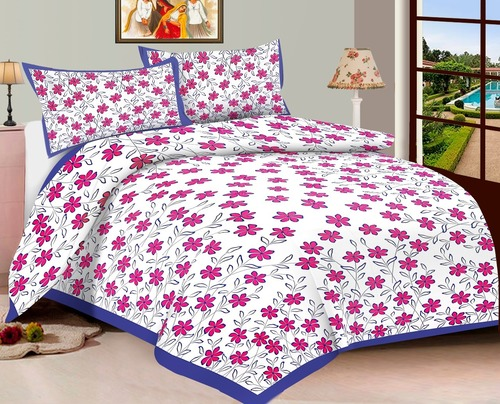 Sanganeri flower printed Bed Sheet