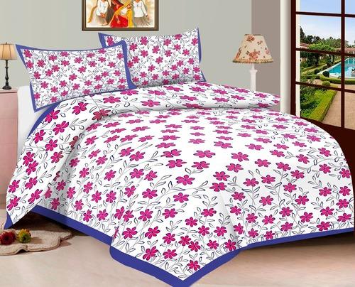 Sanganeri flower printed Bed Sheet