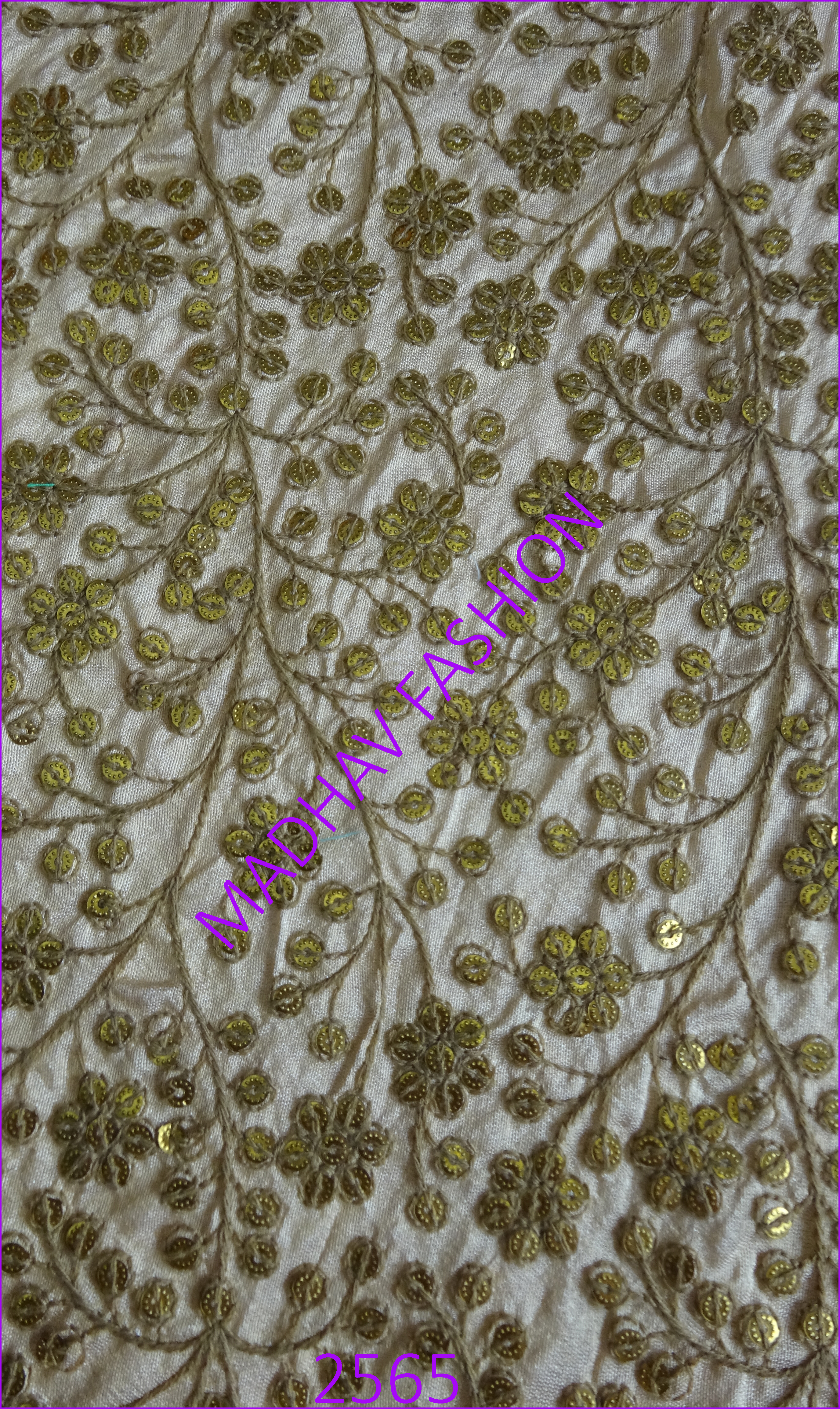 Sequin Embroidery Work With Cotton Thread