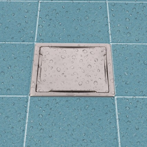 Bath Floor Grating with Trap