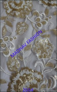 Fancy Four Sequence Fabrics With Thread Work
