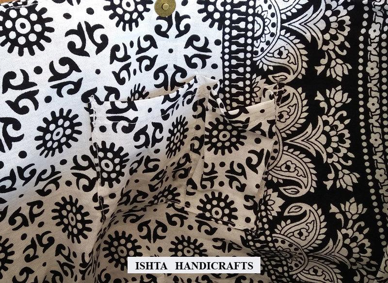 Black White Elephant Mandala Women Handbag