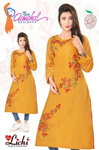 Ladies Designer Embroiderd Kurtis