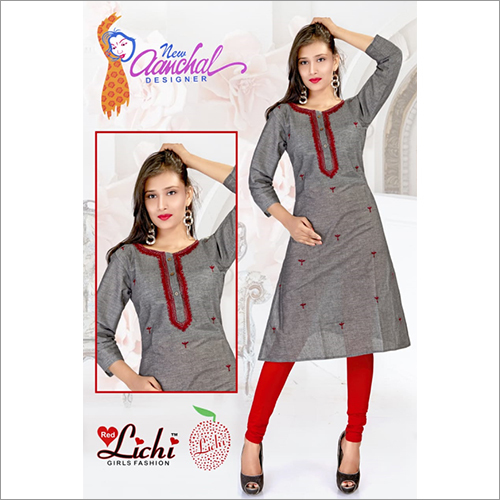 Ladies Round Neck Kurtis