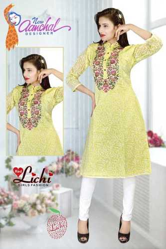 Ladies Pakistanic Silk Kurtis