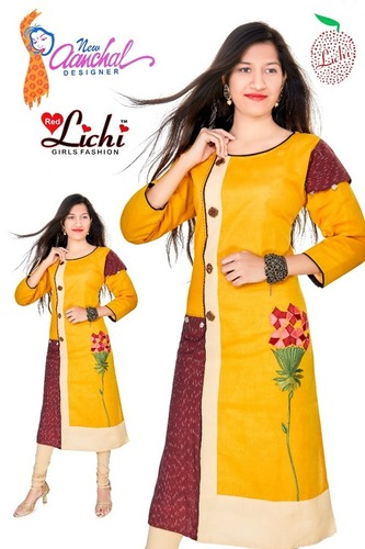 Ladies Handloom Cotton Kurtis