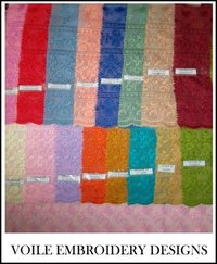 High Twist Voile Embroidered Fabric