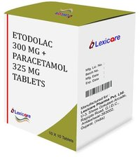 Etodolac 300mg and Paracetamol 325mg Tablets