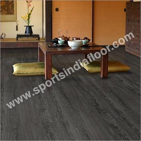 Elegant Dark Brown Vinyl Flooring