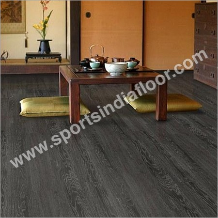 Elegant Dark Brown Vinyl Flooring