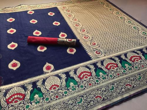 Banarasi Cotton Slub Sarees for Womens
