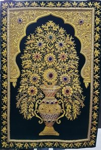 Jewel Carpets/ Zari Carpets with semi precious stones