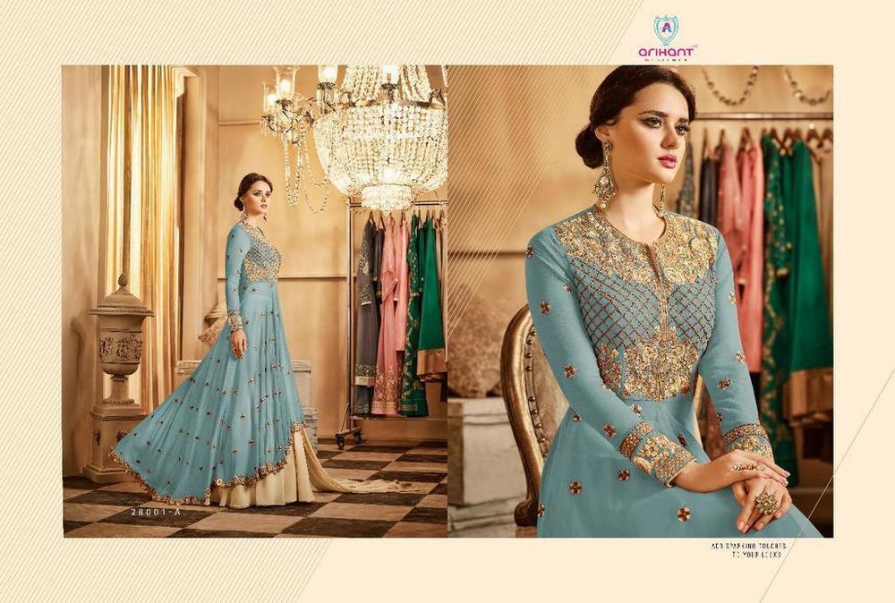 Embroidered Anarkali Suit