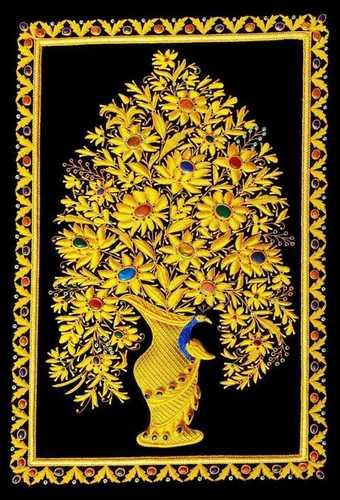 Jewel Carpets/ zari handmade carpets / wall hangings
