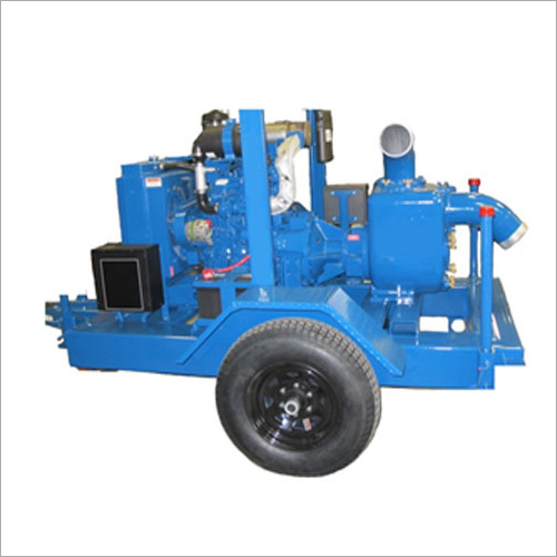 Diesel Engine Driven Water Pumpset Two Wheel Trolley Mounted