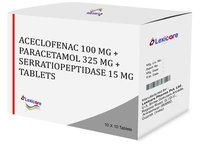 Aceclofenac and Paracetamol and serratiopeptidase Tablets