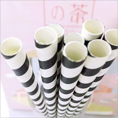 Black and White Boba Paper Straws