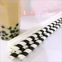 Black and White Boba Paper Straws