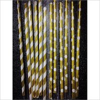 Paper Straw Shinning Golden Colour