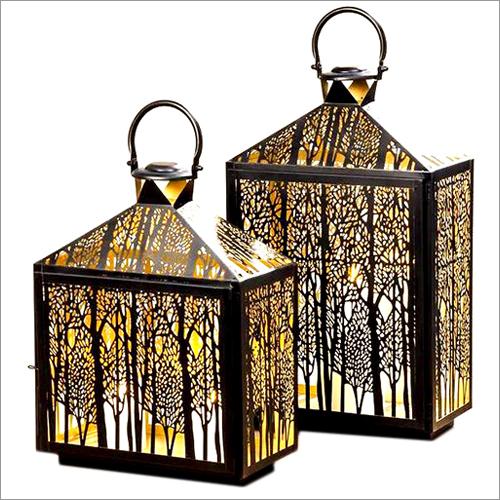 Lantern Forest Zwart 40hx30cm