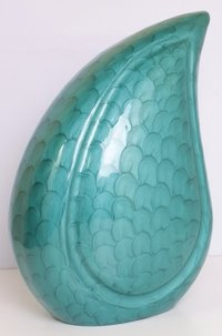 Green Teardrop Cremation Urn