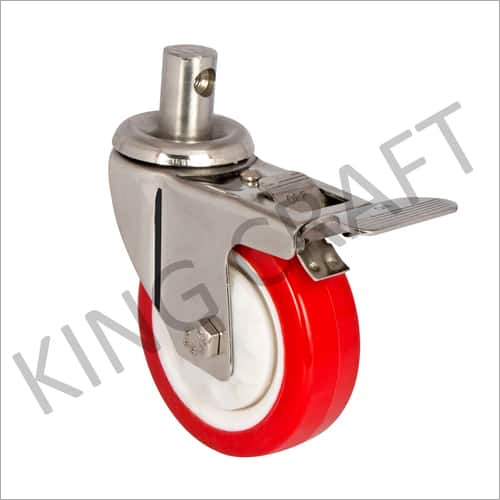ZINC PLATED DIE PRESSED CASTER WHEELS