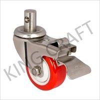 Die Pressed Caster PU Wheel