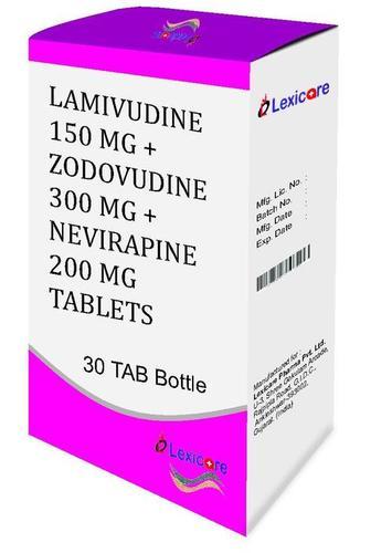 Lamivudine 150mg + Zodovudine 300mg + Nevirapine 200mg Tablets