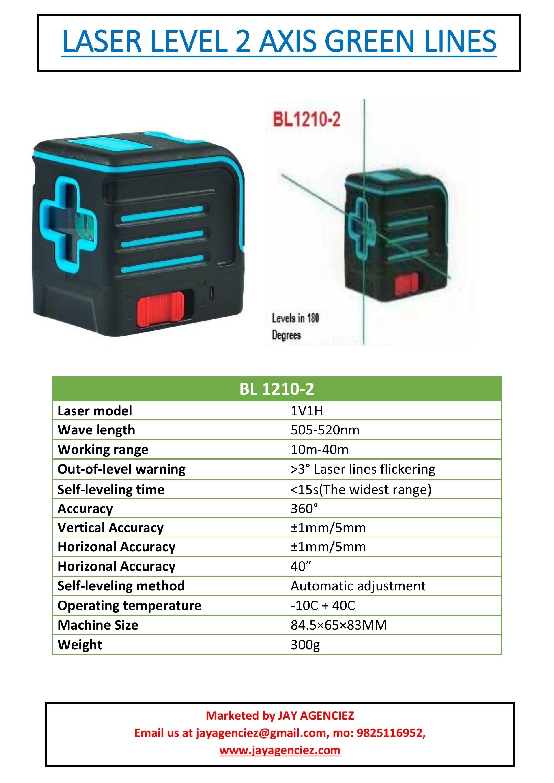 Laser Leveller - Green light