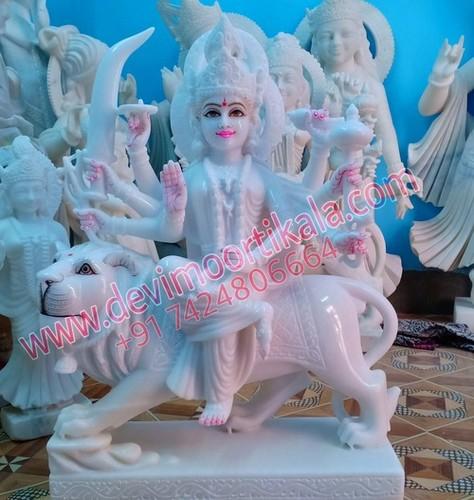 White special Durga Mata Statue