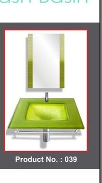Square Glass Wash Basin