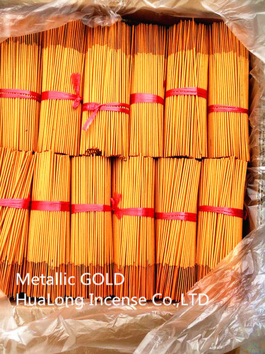 fancy raw agarbatti metallic gold incense