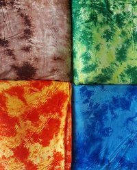 TIE AND DYE RAYON DISCHARGE FABRIC