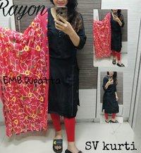 Designer Cotton Printed Kurtis