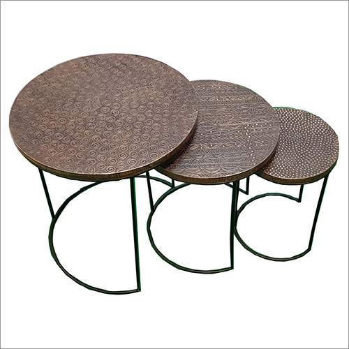 Set Of 3 Brass Stool