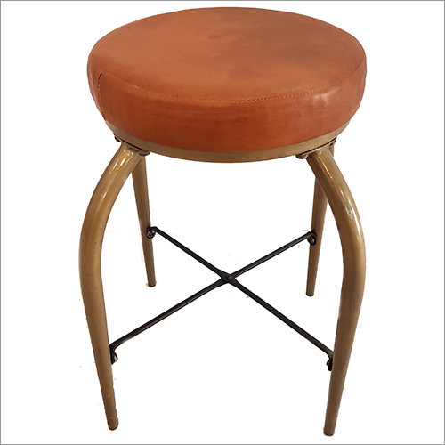 Leather Seated Stool