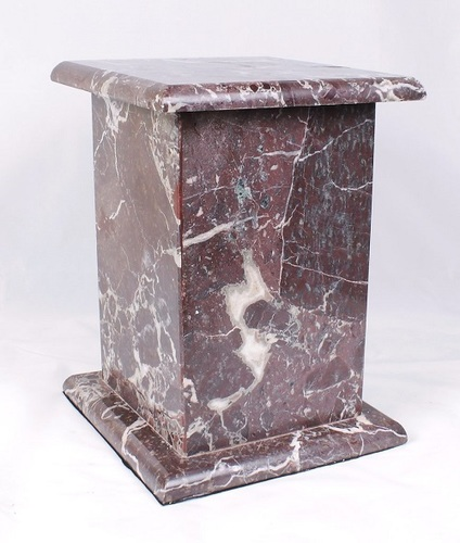 Red Tall Marble Urn