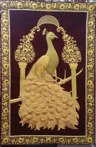 Jewel carpets / Wall zari carpets / zardosi embroidery