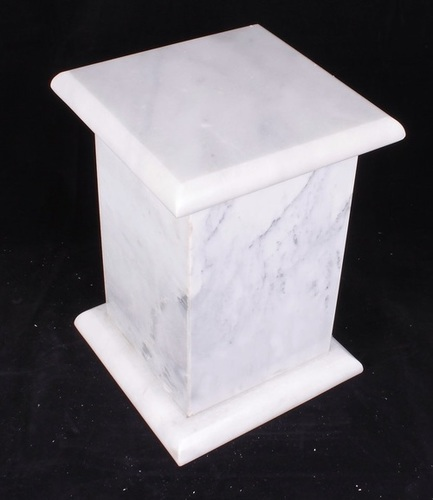 White/ Gray  Tall Aluminum Urn