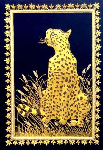 Jewel carpets / animal figures / zari embroidery