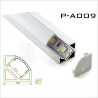 Aluminium Flat LED Strips Corner Profile