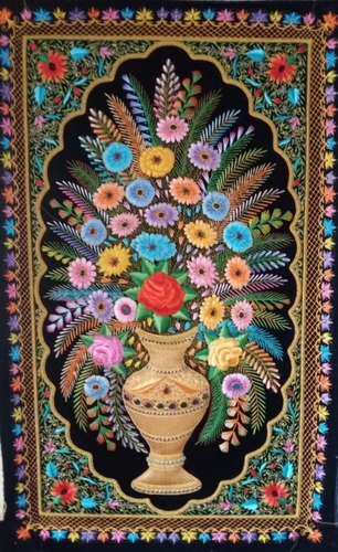 silk thread hand embroidery wall hanging carpets