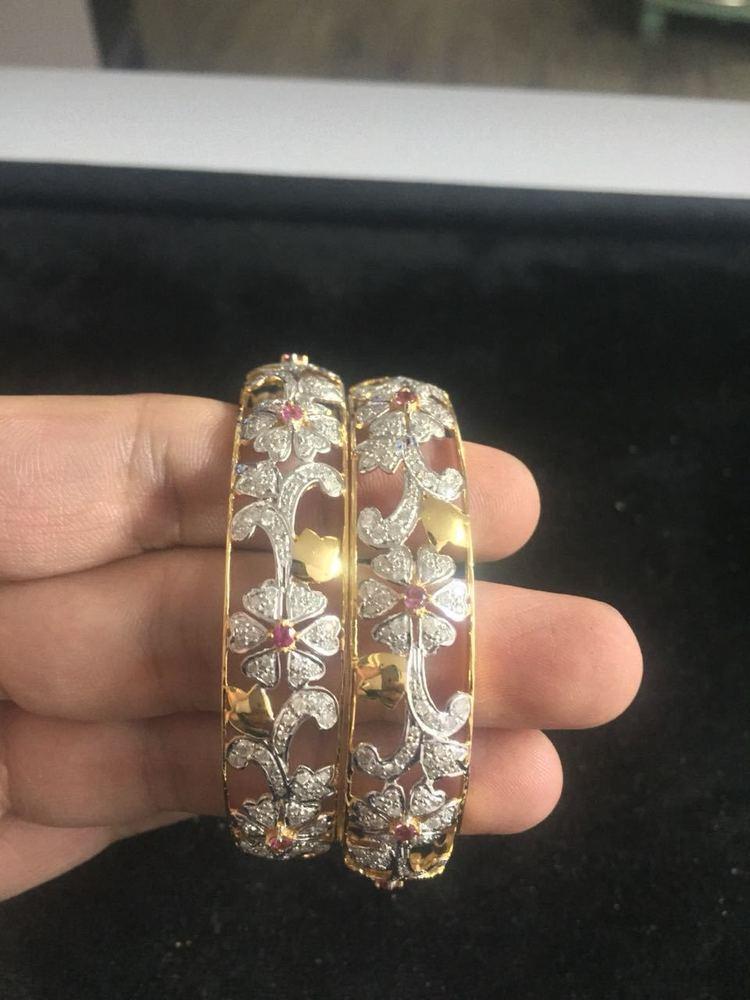 Gold Diamond Bangle
