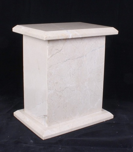 Beige Tall Marble Urn