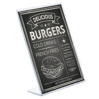 Kebica Slant Back Design A6 Size (4 x 6 inches) Sign Holder Ad Frames, Perfect for Store, Office, Restaurant (4 Pack)