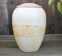Teak wood Style Marble Urn